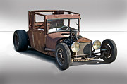 Ford Model T Car Framed Prints - Tall T Studio Rat Framed Print by Dave Koontz