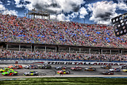 Race Drivers Photos - Talladega Superspeedway in Alabama by Mountain Dreams