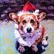 Christmas Dogs Prints - Tally Ho Ho Ho Print by Kristy Tracy