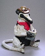 Woods Sculpture Ceramics - Tamandua Anteater by Jeanette K
