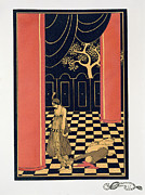 Checker Framed Prints - Tamara Karsavina Framed Print by Georges Barbier