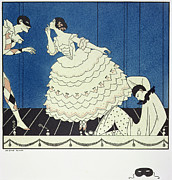Ballet Dancers Painting Prints - Tamara Karsavinaas Columbine Print by Georges Barbier