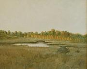 Tamarack Pond Print by Sherri Anderson