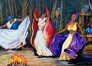 Haitian Paintings - Tamboulay by Karin Best