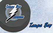 Puck Prints - Tampa Bat Lightning Print by Joe Hamilton