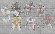 Touchdown Posters - Tampa Bay Buccaneers Legends Poster by Joe Hamilton