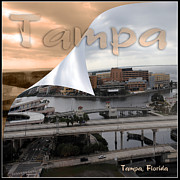 Steve Sperry Metal Prints - Tampa on the River Metal Print by Steve Sperry