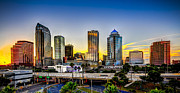 Glass Reflections Posters - Tampa Skyline Poster by Marvin Spates