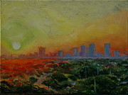 Tampa Painting Originals - Tampa Sunrise by Thomas Bertram POOLE