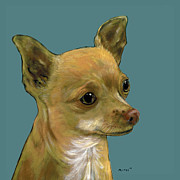 Chihuahua Paintings - Tan Chihuahua by Dale Moses