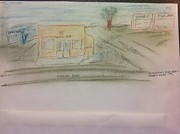 Paul Gauguin Drawings - Tanaka Store Ewa Beach by Willard Hashimoto