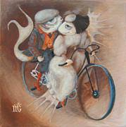 Tandem Print by Marina Gnetetsky