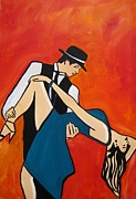 Ballroom Dance Paintings - Tangaso by Gino Savarino
