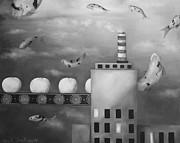 Tangerine Dream Edit 4 Print by Leah Saulnier The Painting Maniac