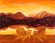 Tangerine Paintings - Tangerine Tranquility by Ginny Heavner