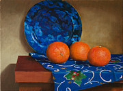 Tangerines Print by Mikhail Kovalev