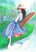 Tangi Resting By The Water Print by Barbara LeMaster