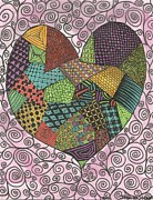 Jennifer Vazquez Metal Prints - Tangled Heart Metal Print by Jennifer Vazquez