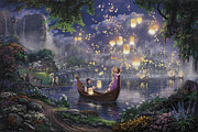 Princess Painting Prints - Tangled Print by Thomas Kinkade