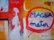 Abstract Mother And Child Paintings - Tango by Ana Maria Edulescu