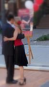Tango Dancing On The Street Print by Lingfai Leung