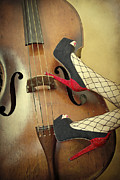 Wooden Prints - Tango For Strings Print by Evelina Kremsdorf