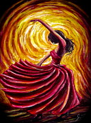 Dancing Girl Paintings - Tango Girl by Sebastian Pierre
