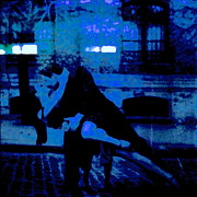 Library Digital Art - Tango in Blue by Diane Phelps