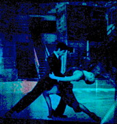 Library Digital Art - Tango in Blue too by Diane Phelps