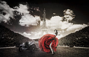 Latin Dance Posters - Tango in Paris Poster by Erik Brede