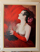Eric Shepherd Paintings - Tango in Red by Eric Shepherd