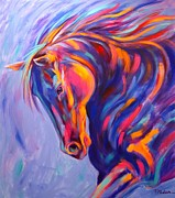 Colorful Horse Paintings - Tango by Theresa Paden