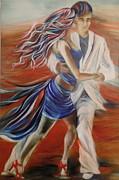 Tango Whirl Wind Print by Summer Celeste