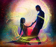 Dance Paintings - Tangoscape 01 by Miki De Goodaboom
