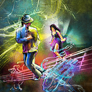Dance Paintings - Tangoscape 03 by Miki De Goodaboom