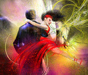 Dance Paintings - Tangoscape 05 by Miki De Goodaboom