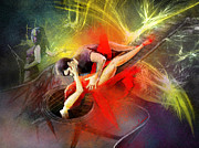 Dance Paintings - Tangoscape 06 by Miki De Goodaboom