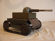 Metal Art Sculpture Originals - Tank by Michael Sauro