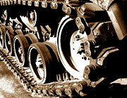 Wheels Framed Prints - Tank Tracks Framed Print by Olivier Le Queinec