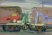 Transportation Pastels Framed Prints - Tanker Connection Framed Print by Donald Maier