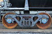 Santa Fe Framed Prints - Tanker Train Wheels - 5D20884 Framed Print by Wingsdomain Art and Photography