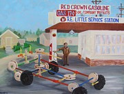 Service Station Paintings - Tanks for the Memories by Dori Marshall