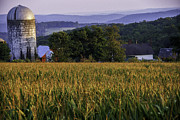 Farmscapes Metal Prints - Tanners Farm - A Litchfield Hills scenic landscape Metal Print by Thomas Schoeller