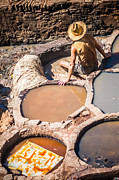 Fes Framed Prints - Tannery in Morocco Framed Print by Sabino Parente