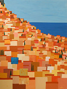 Patchwork Quilts Paintings - Taormina by Brenda Helt