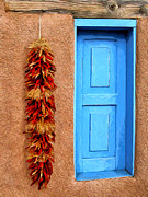 Dominic Piperata Metal Prints - Taos Blue Door Metal Print by Dominic Piperata