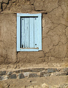 Adobe Architecture Prints - Taos Blue Window  Print by Ann Powell