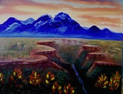 Canyons Paintings - Taos Canyon by Lynda Ortiz