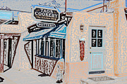 Taos Mixed Media Posters - Taos Cookery Shop Poster by Kathleen Stephens
