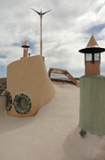 Earthship Framed Prints - Taos Earth Ship House Framed Print by Jerry McElroy